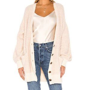 Free People Snow Drop Cardigan Ivory SIze M